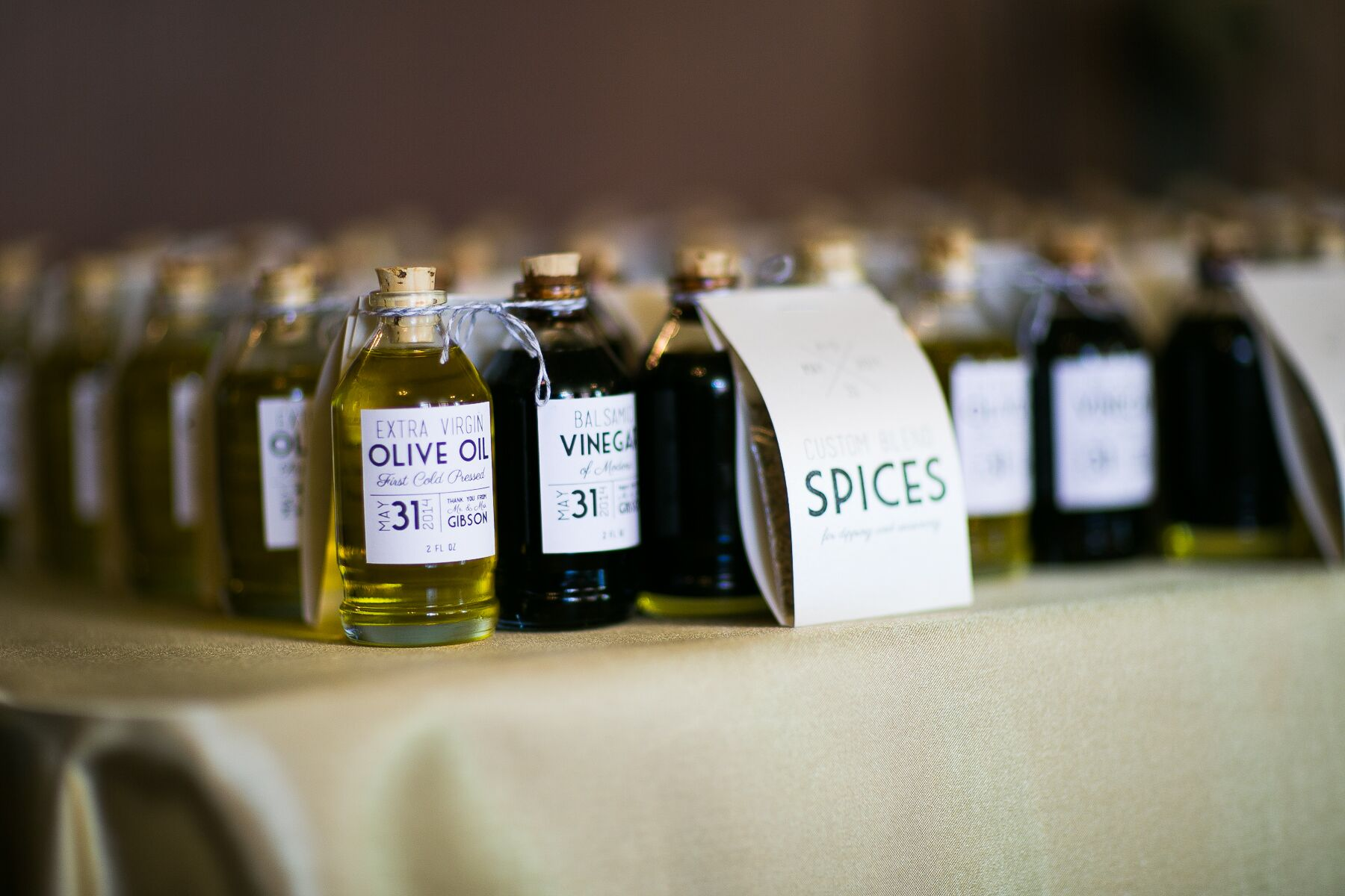 Olive Oil Balsamic And Spices Favors