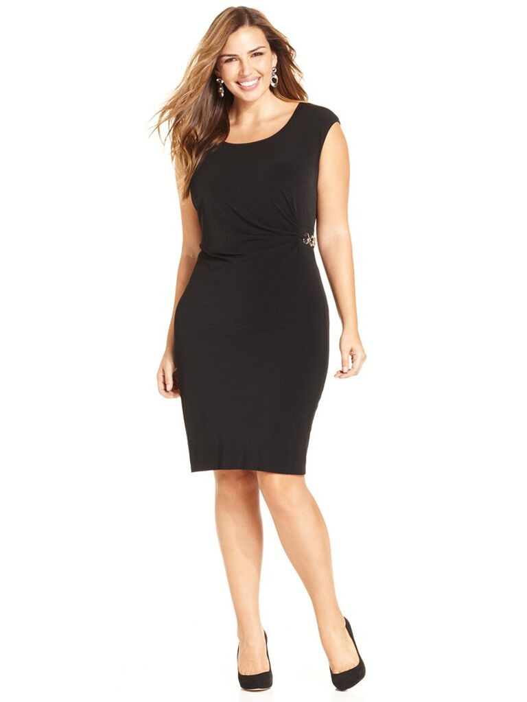 Ny Collection Black Wedding Guest Dress