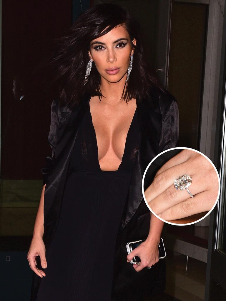 Kim Kardashian engagement ring from Kanye West