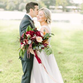 Blush weddings dark red and pale blush bridal bouquet junglespirit Gallery