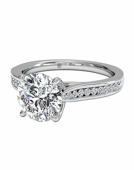 Ritani Round Cut Channel-Set Diamond Engagement Ring with Surprise Diamonds in 18kt White Gold (0.14 CTW) Engagement Ring photo