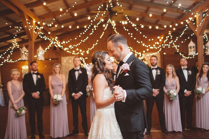 "Nikole and Rocco took their first dance to ""I Can't Help Falling in Love with You"" by Ingrid Michaelson. It was ""the most romantic song ever, a great cover of a timeless classic,"" says Nikole."