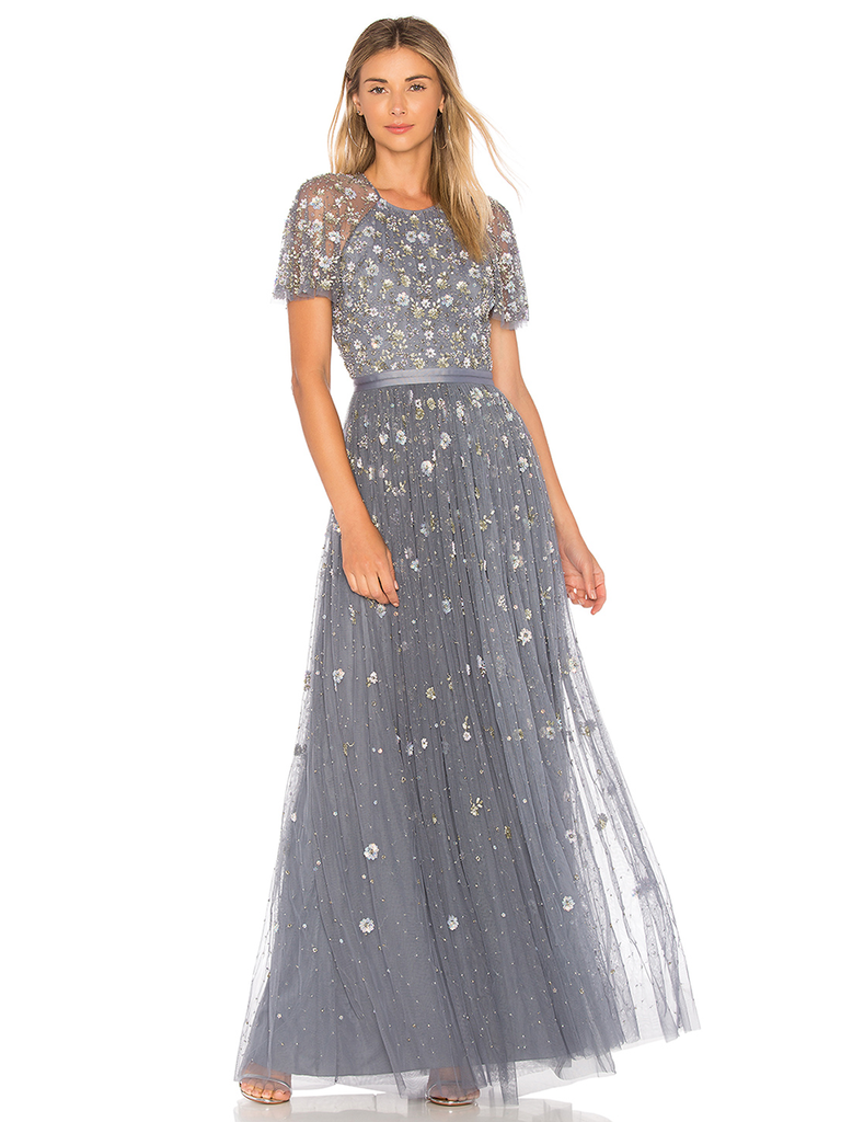 Embellishments And A Flouncy Tulle Skirt Make This Gown Feminine Fit For Winter Wedding Any Other Fete Really
