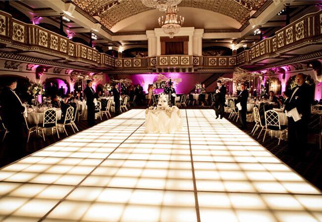 White Illuminated Wedding Dance Floor