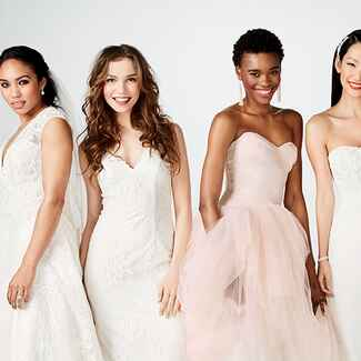 Diverse models in David's Bridal dresses