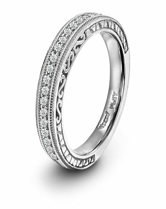 Platinum Engagement and Wedding Ring Must-Haves Novell Design Studio Platinum and Diamond Wedding Band Wedding Ring photo