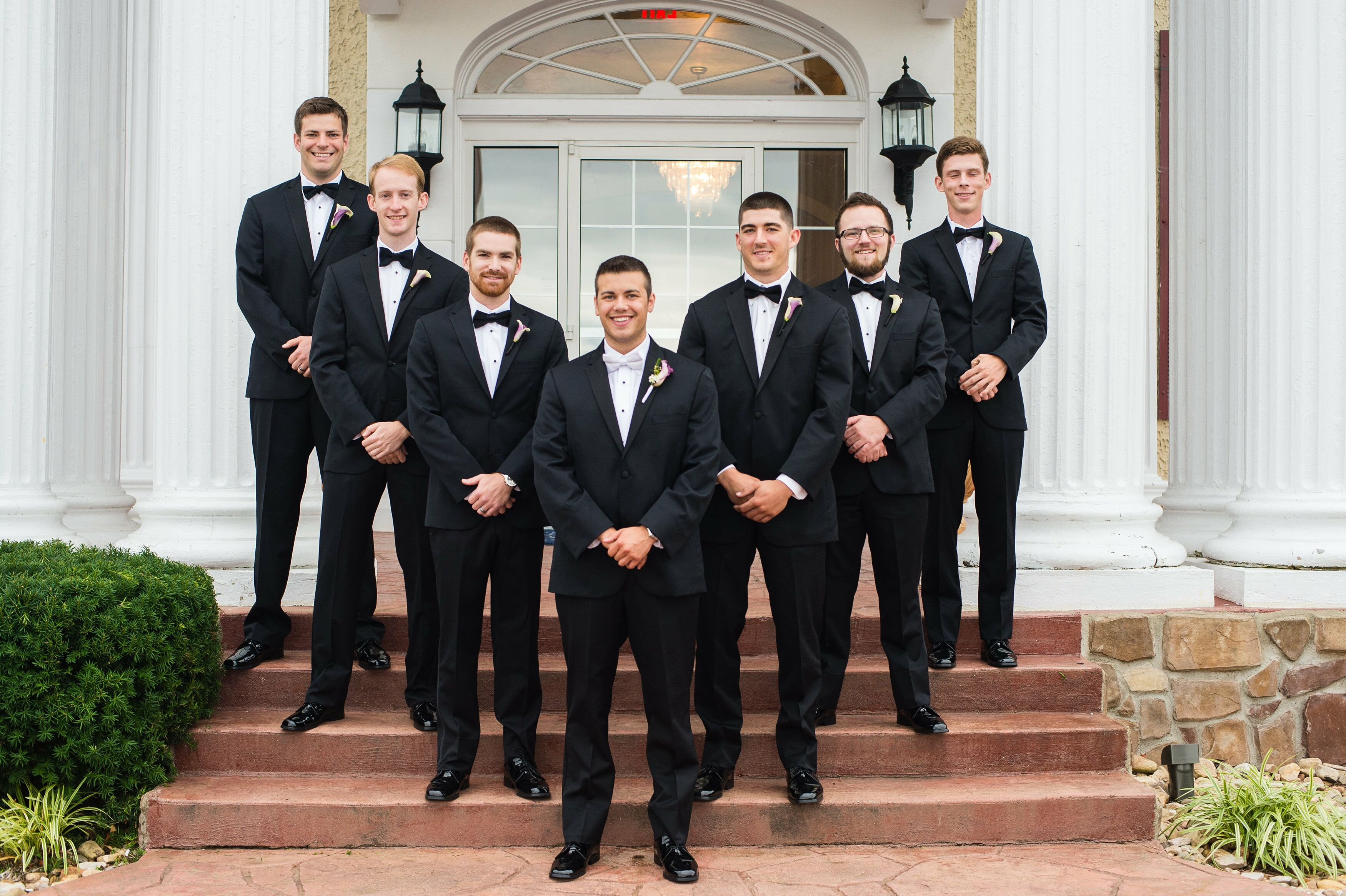 Classic Black Groomsmen Tuxedos And Bow Ties