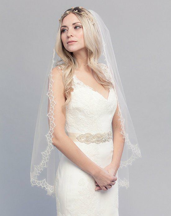 Laura Jayne Monique Chantilly Lace Veil Wedding Accessory photo