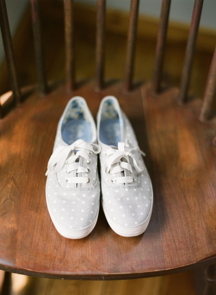 Untraditional Polka Dot Wedding Shoes