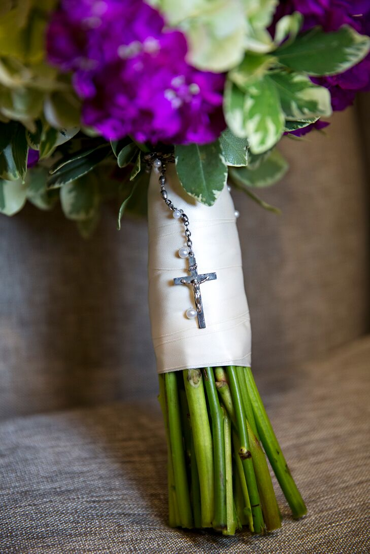 Traditional Silver Rosary Bouquet Accent