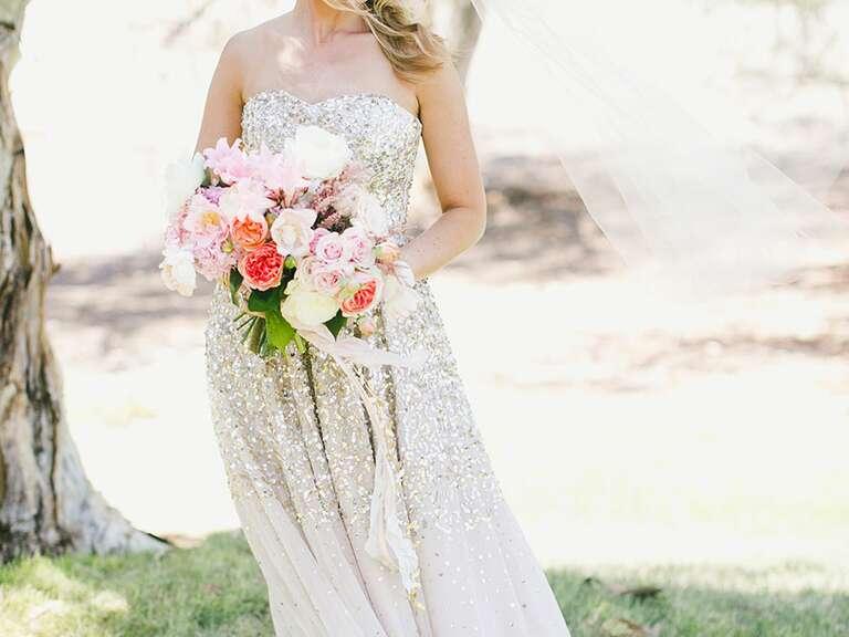 29e12cabae8 15 Champagne Wedding Dresses We Love