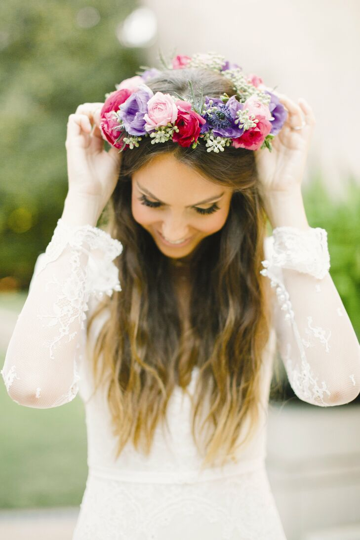 Romantic flower crown a pink red and purple rose flower crown added a natural whimsical touch izmirmasajfo