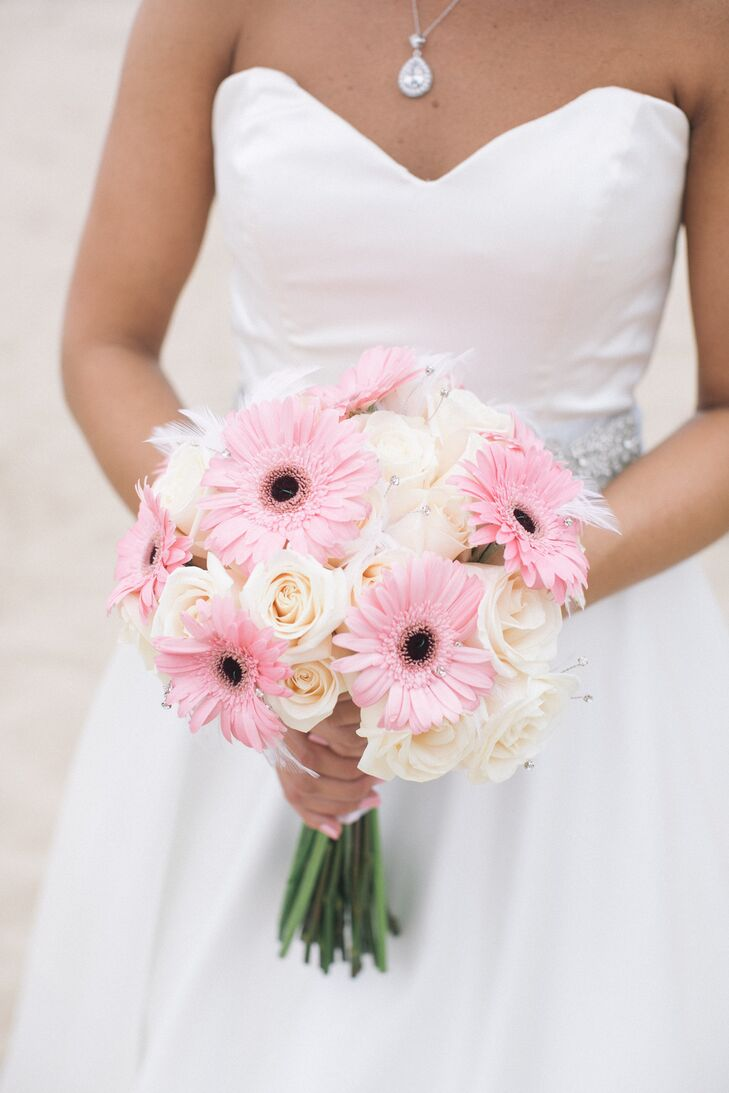 Pink Gerbera Daisy Fabric Flower Bouquet