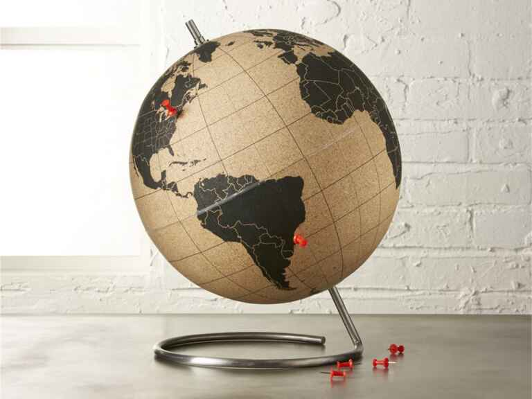 CB2 Cork Globe creative wedding gift ideas