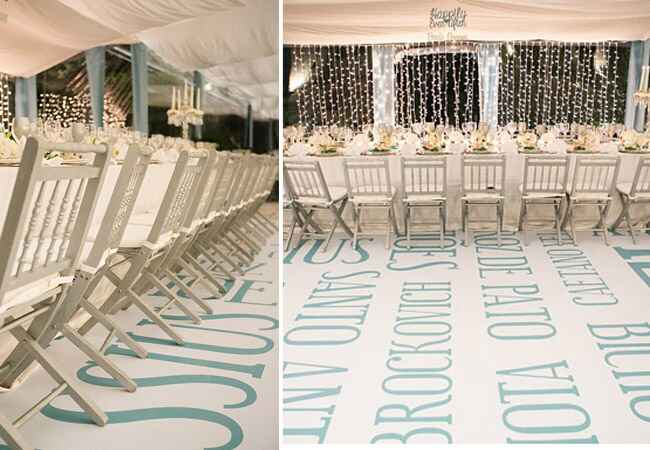 Custom Dance Floor with Words