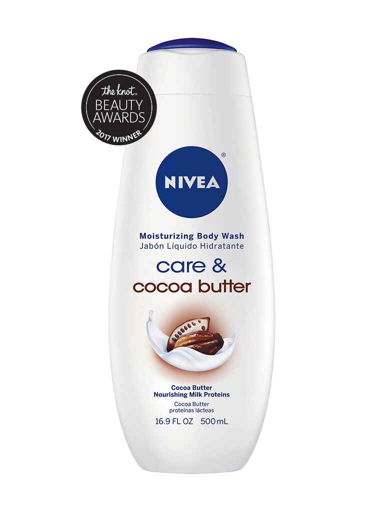 The Knot budget pick for best body wash is the Nivea Cocoa Butter moisturizing body wash