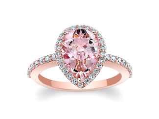 barkevs morganite pink engagement ring - Pink Wedding Ring