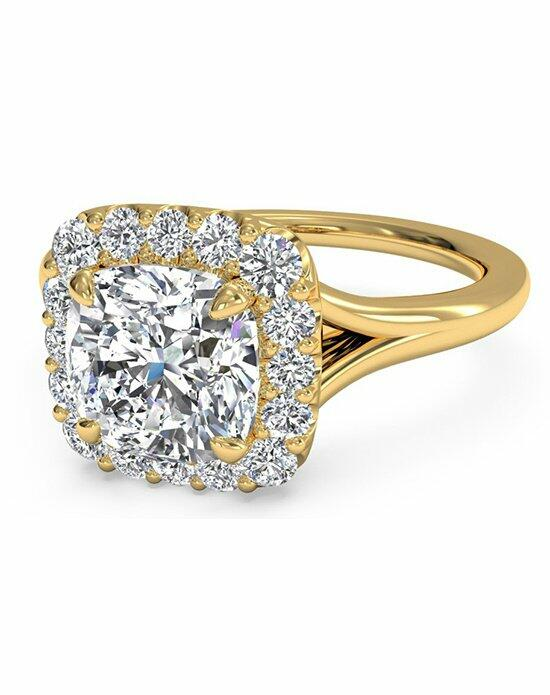 Ritani Cushion Cut French-Set Halo Diamond Engagement Ring in 18kt Yellow Gold (0.20 CTW) Engagement Ring photo