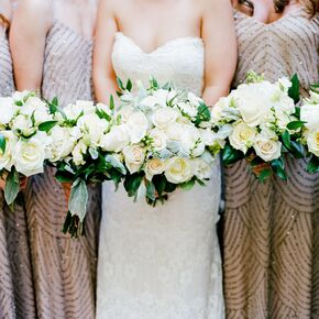 Clic Ivory Rose Bridesmaid Bouquets