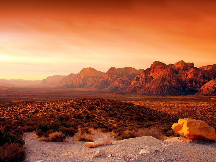 desert view of Red Rock Canyon, Nevada