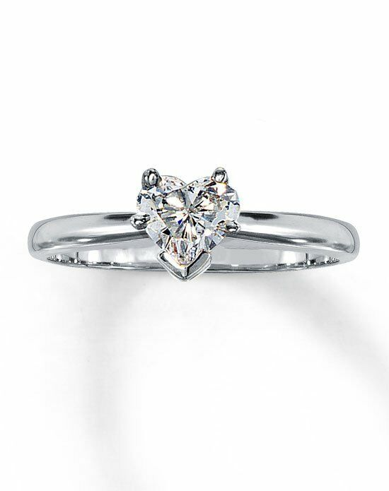 Kay Jewelers Diamond Solitaire Ring 1/2 ct Heart-Shaped 14K White Gold-161228806 Engagement Ring photo
