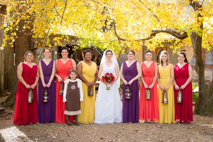 Bright colored bridesmaid dresses for Bright colored wedding dresses