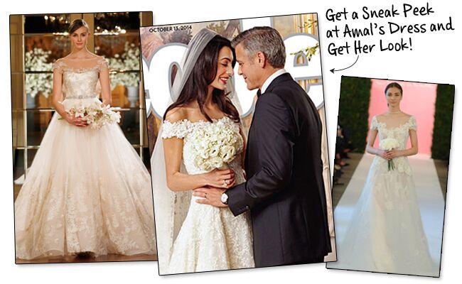 George clooney wedding dress