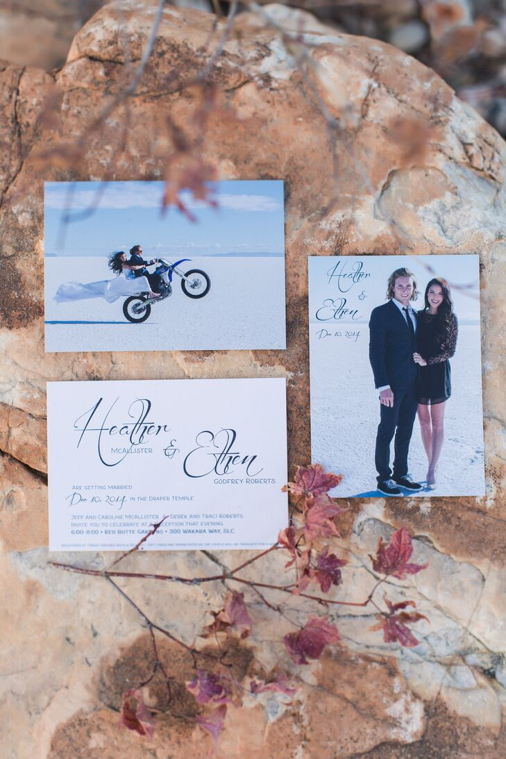 Custom Photo Invitation Suite in Salt Lake City