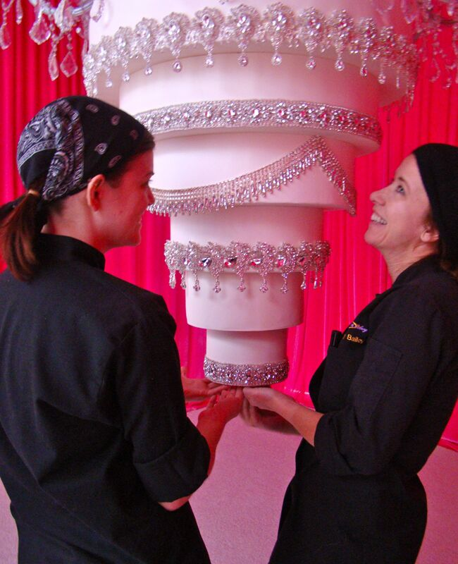 How One Baker Created An Upside Down Cake For Kaley Cuoco S Wedding