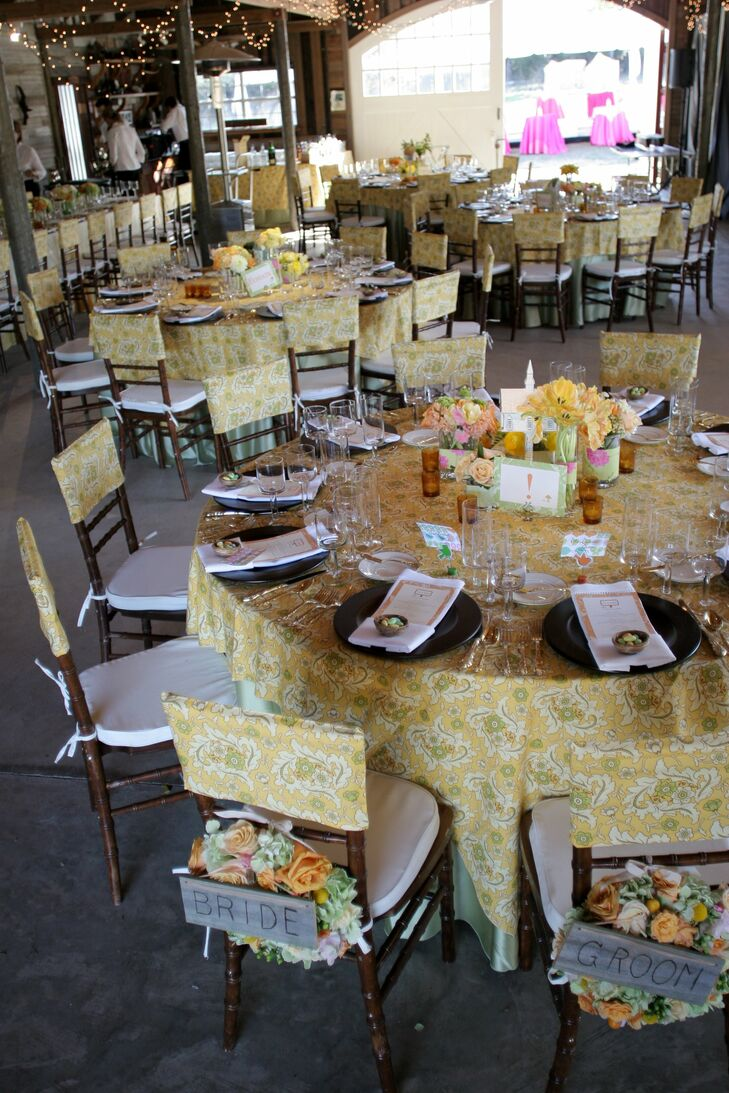 Yellow Paisley Table Linens