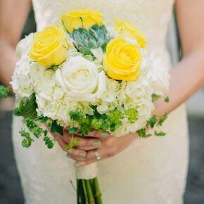 Canary yellow wedding flower arrangements canary yellow roses bouquet mightylinksfo