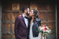 For their late fall nuptials, Lindsay Puchalsky and Joseph Buxbaum planned an elegant yet understated affair that played up their venue's unique rusti