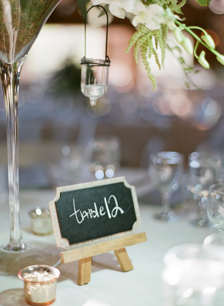 DIY Mini Chalkboard Table Numbers