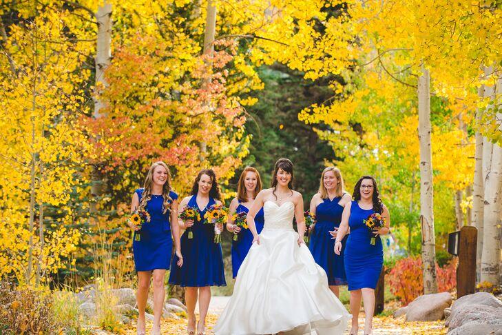 An Organic Yellow And Blue Fall Wedding At Vail Cascade