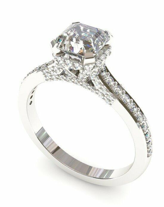 Enchanted Diamonds Asscher Pave with Side Halo CH2-4W-A Engagement Ring photo
