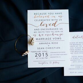 Winter wedding invitations white wedding invitations junglespirit Images