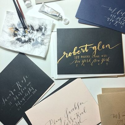 Calligraphers In Poway Ca The Knot