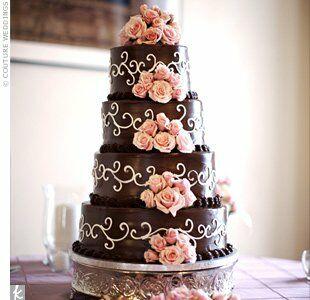 Chocolate Ganache Wedding Cake