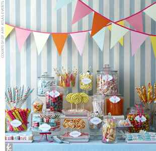pastel vintage style candy bar