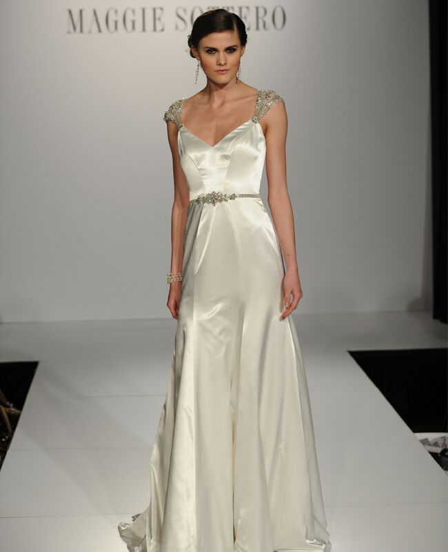 6 art deco wedding dresses from maggie sottero junglespirit Choice Image