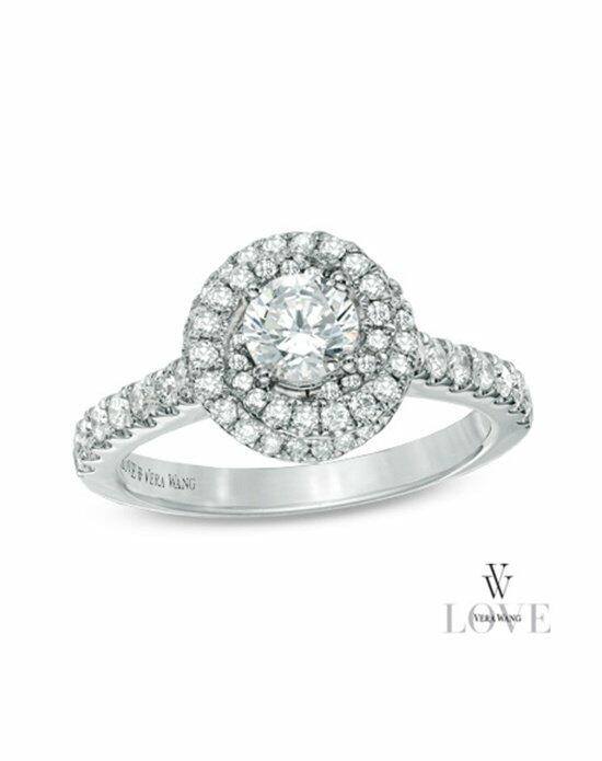 Vera Wang LOVE at Zales Vera Wang LOVE Collection 1 CT. T.W. Diamond Swirl Frame Engagement Ring in 14K White Gold  19952446 Engagement Ring photo