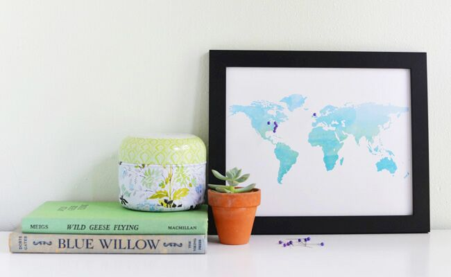 DIY A Pinboard Travel Map for Your Anniversary Gift – Travel Map Pin Board