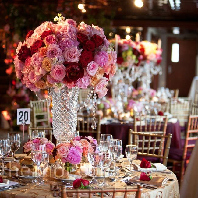 Pink Flower Centerpieces For Weddings: Red And Pink Centerpieces