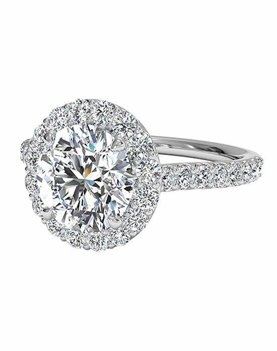 Ritani Round Cut French-Set Halo Diamond Band Engagement Ring in 18kt White Gold (0.45 CTW) Engagement Ring photo
