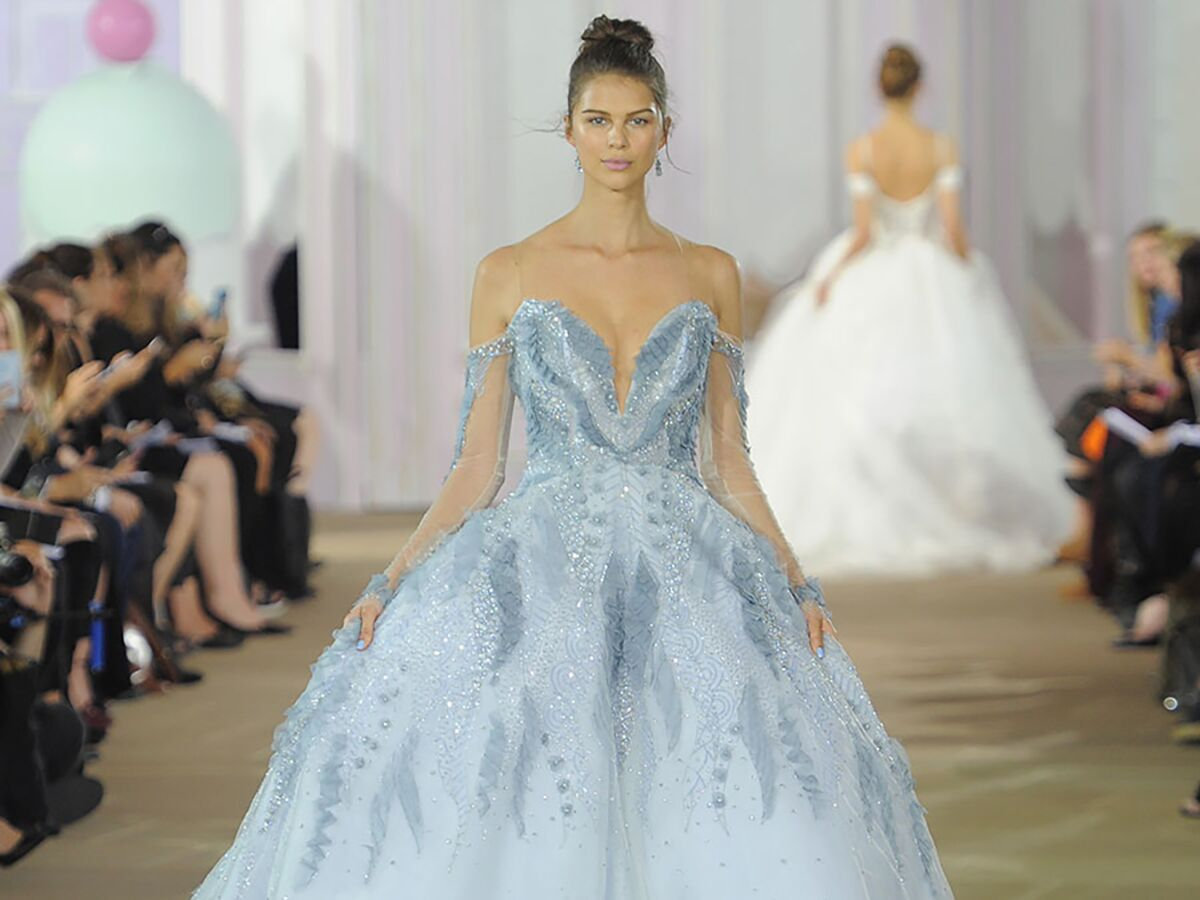 Colorful Wedding Dresses From Bridal Fashion Week