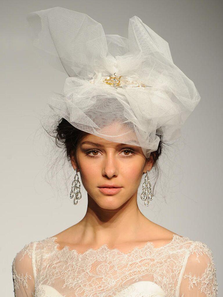 Maggie Sottero Victorian-inspired birdcage veil