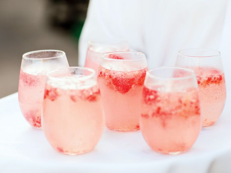 Berry signature wedding cocktail