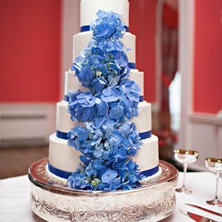 Real Blue Wedding Cakes
