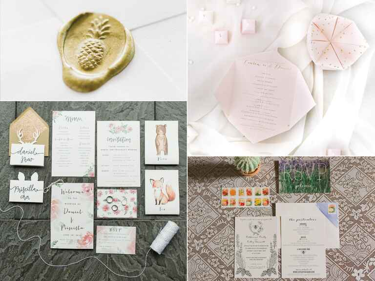 Customized wedding invitations
