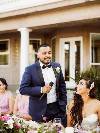 How to greet wedding guests without a receiving line